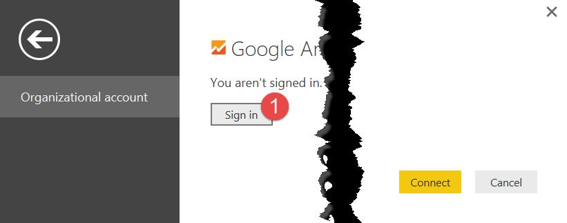 4 signin google power bi